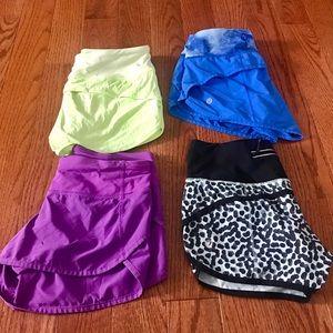 Size 2 Lululemon Speed Shorts